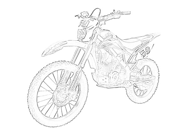dirt bike coloring page # 57