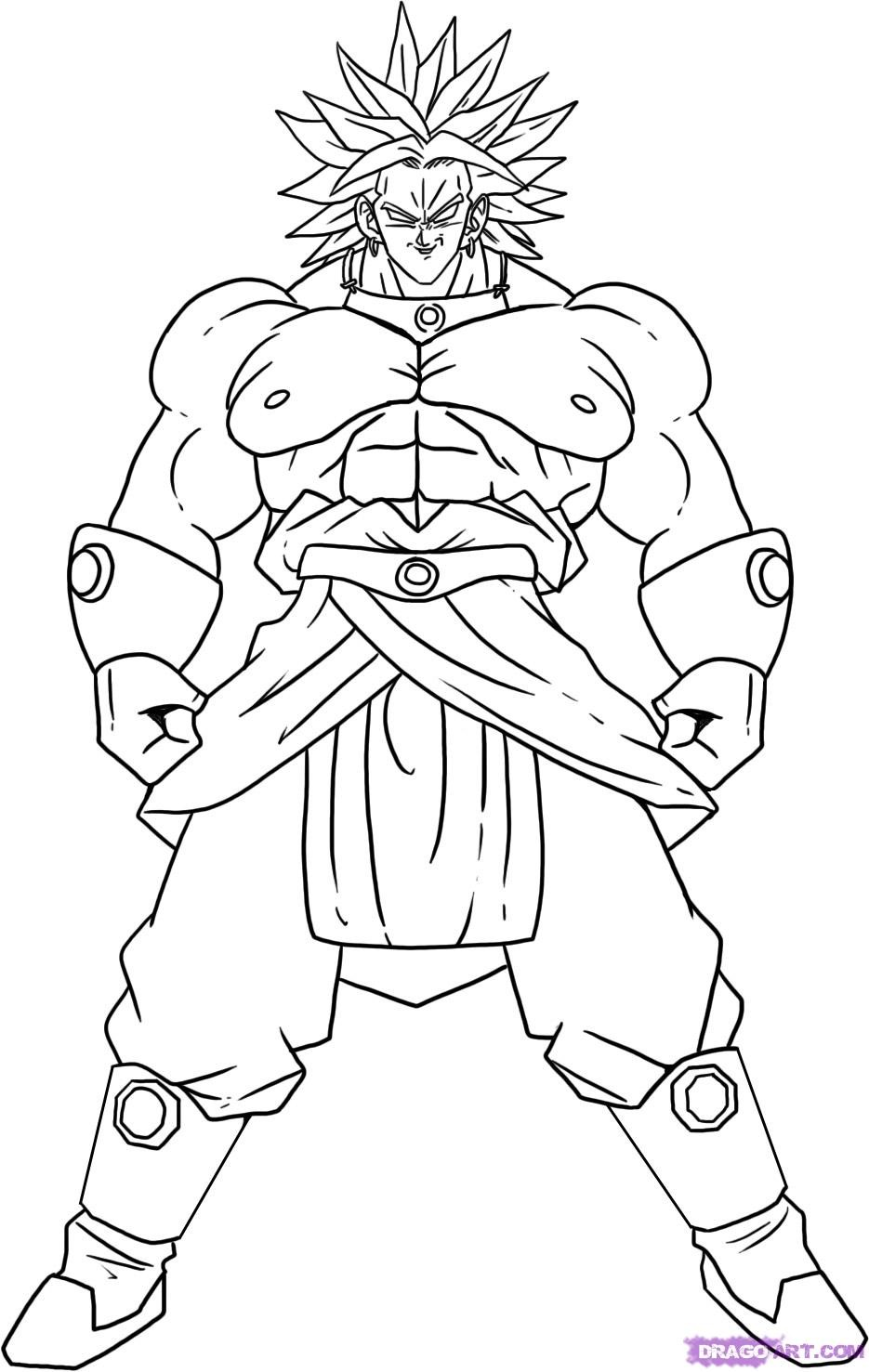 Dragon Ball Z Coloring Pages Printable Timykids