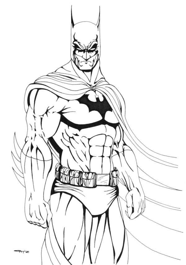 batman printable coloring pages # 5