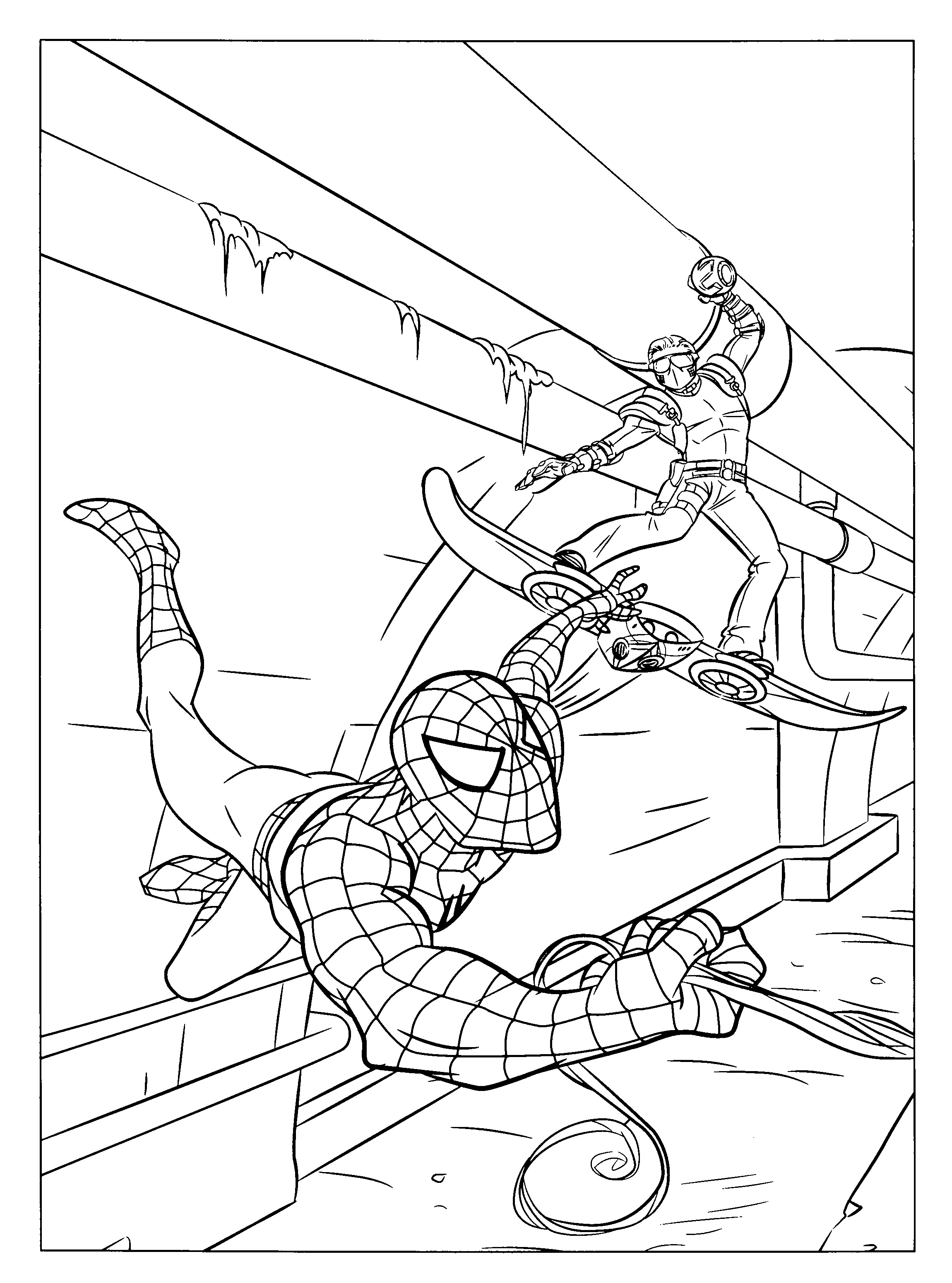 Spiderman 3 Venom Coloring Pages Spiderman 3 Coloring Pages Online
