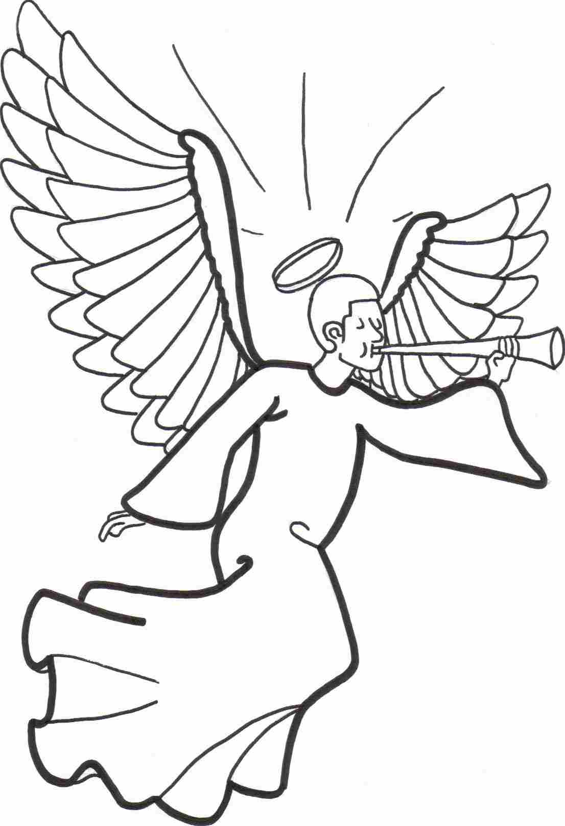 Angel Coloring Pages To Print Free Coloring Pages Download | Xsibe ...