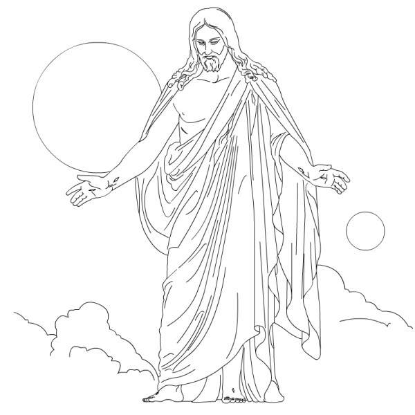 coloring pages jesus # 16