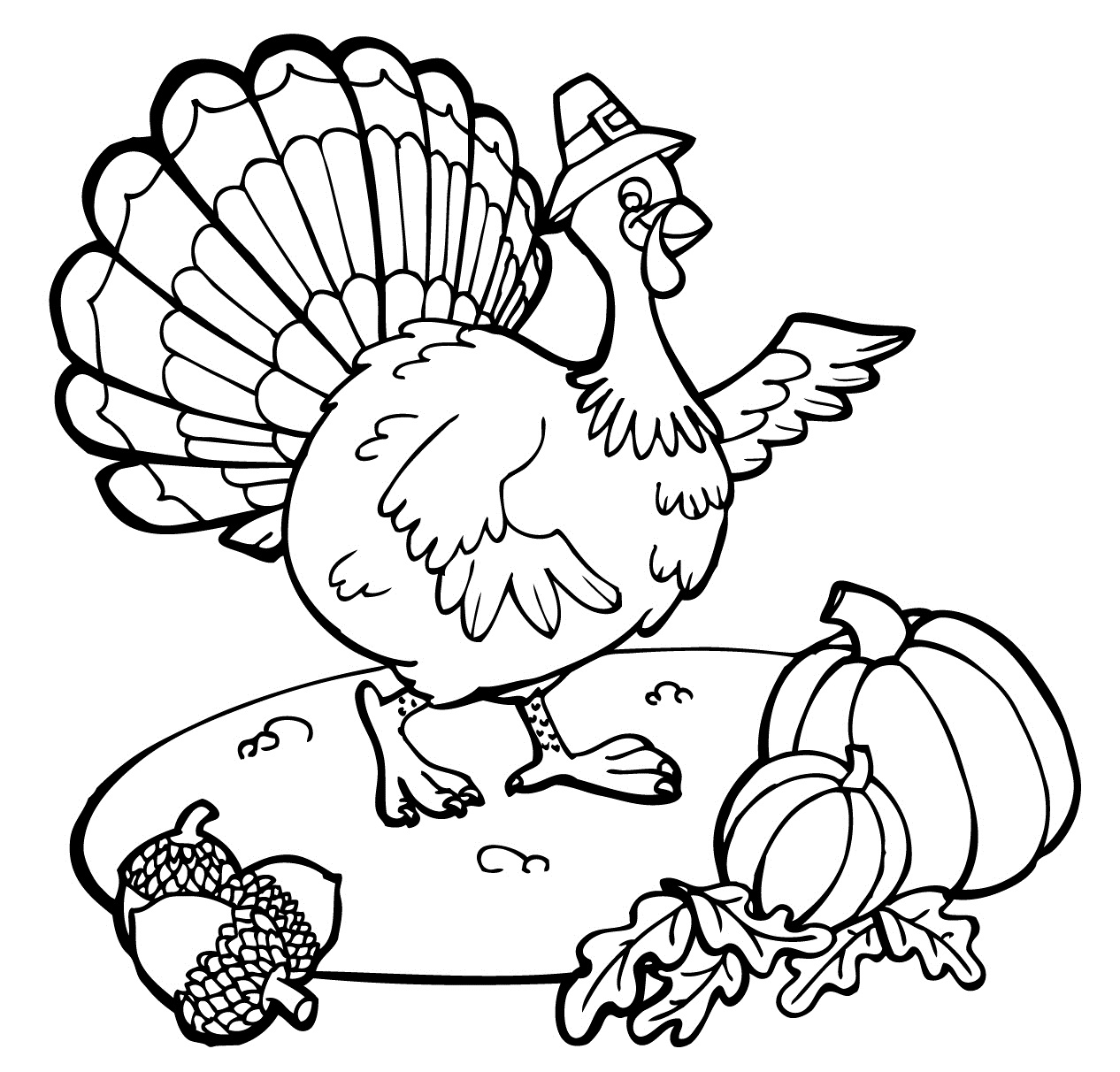 Free Printable Thanksgiving Coloring Pages For Toddlers Printable