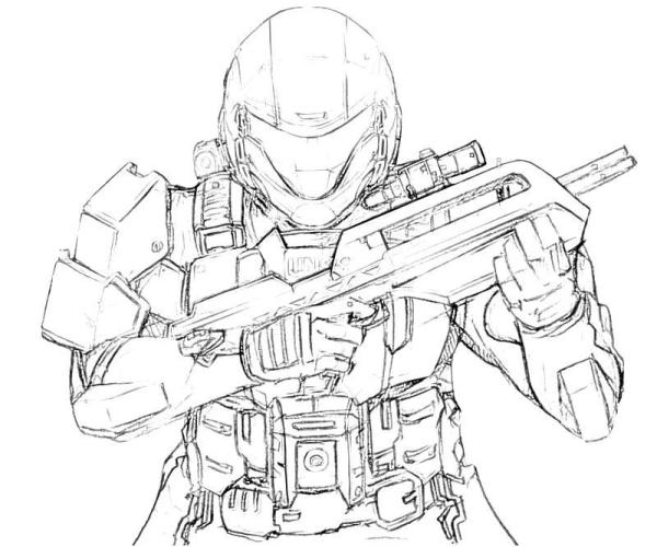coloring pages halo # 45
