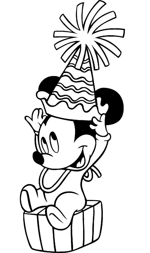 mickey coloring page # 16