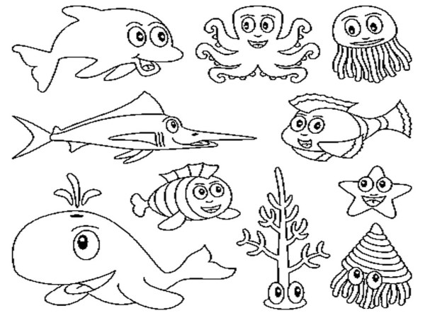 ocean life coloring pages # 4