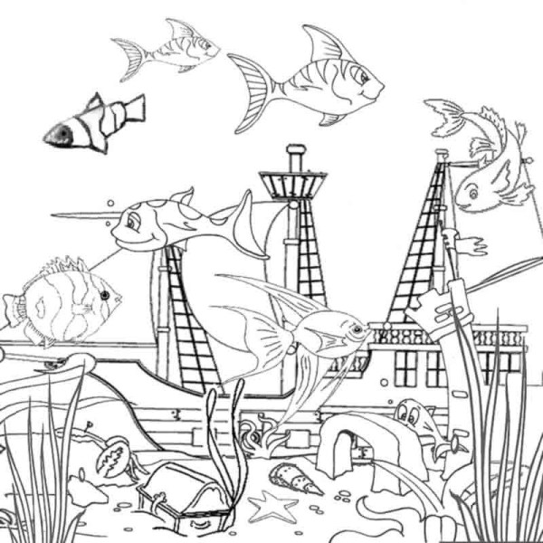ocean life coloring pages # 9