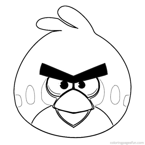 angry bird coloring page # 7