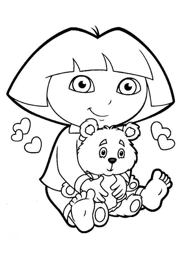 dora coloring pages printable # 6