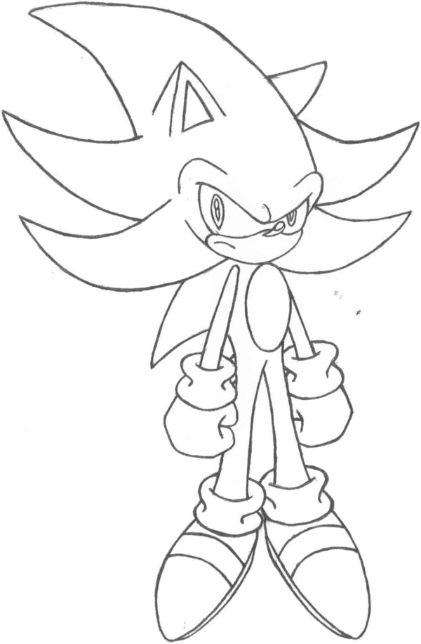 super sonic coloring pages # 13