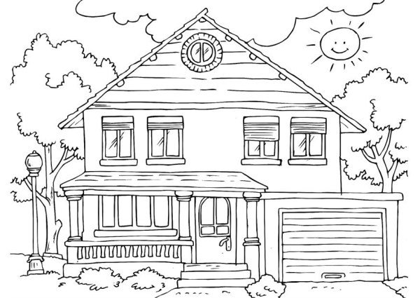coloring pages of houses # 5