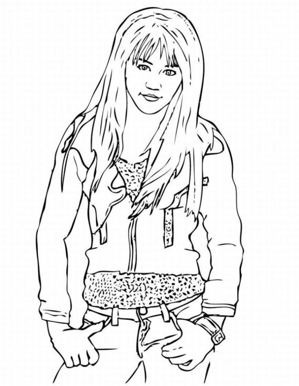 hannah montana coloring pages # 2