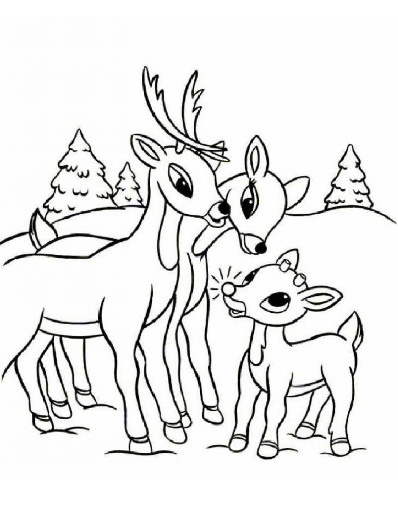Coloring Pages Print Raindeer