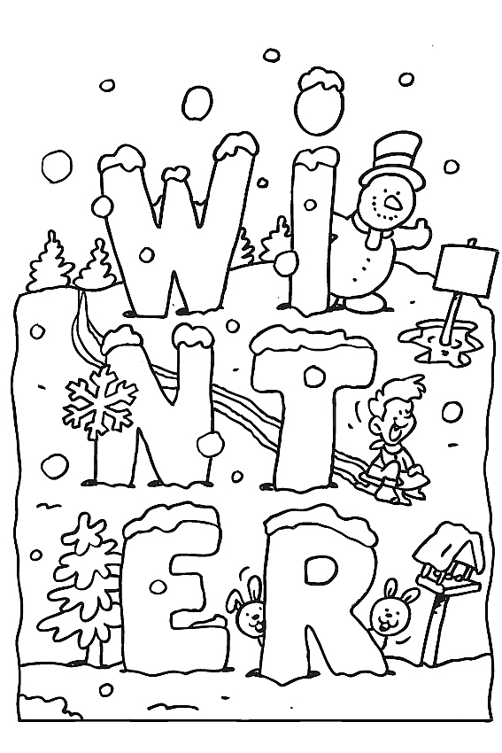 winter coloring pages free printable # 0