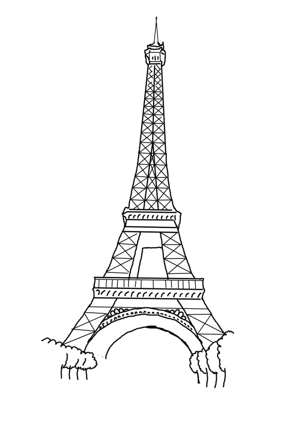 eiffel tower coloring pages # 4