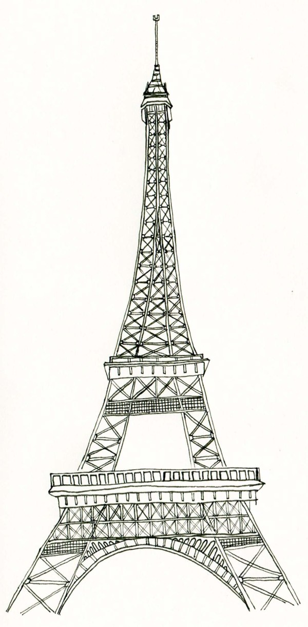 eiffel tower coloring pages # 45
