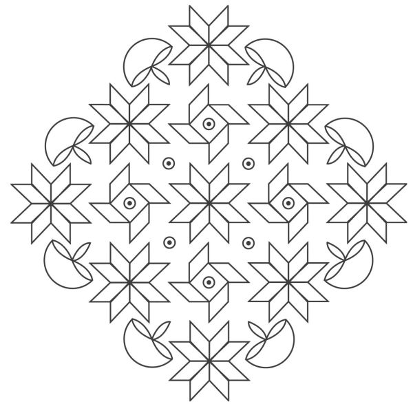 rangoli coloring pages # 5