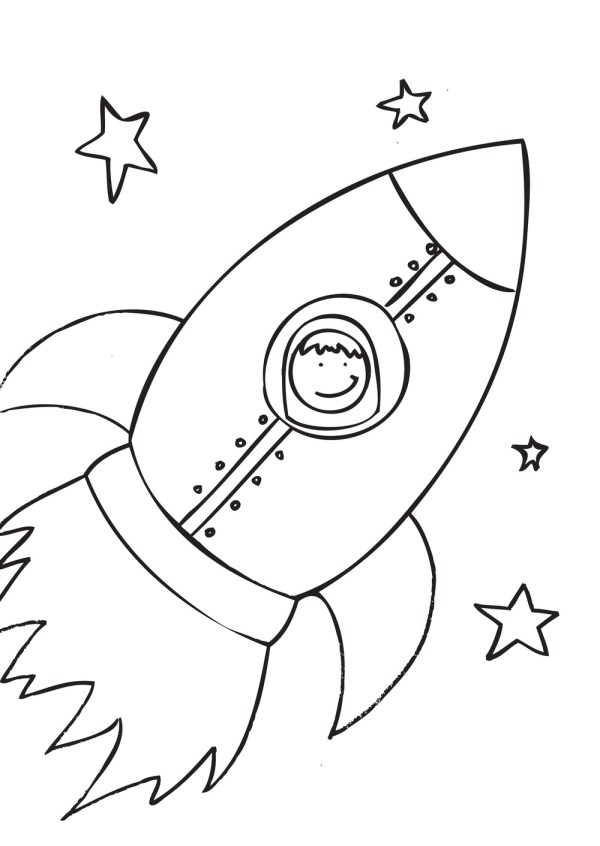 rocket ship coloring pages # 1
