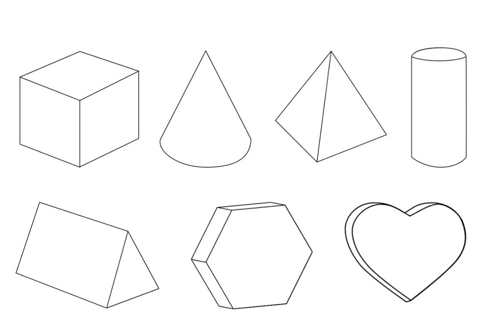 3d triangle template printable