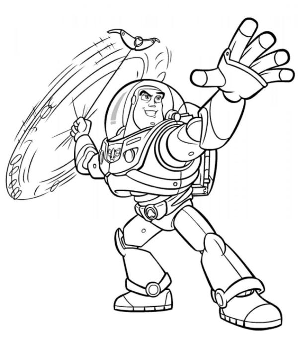buzz lightyear coloring page # 21