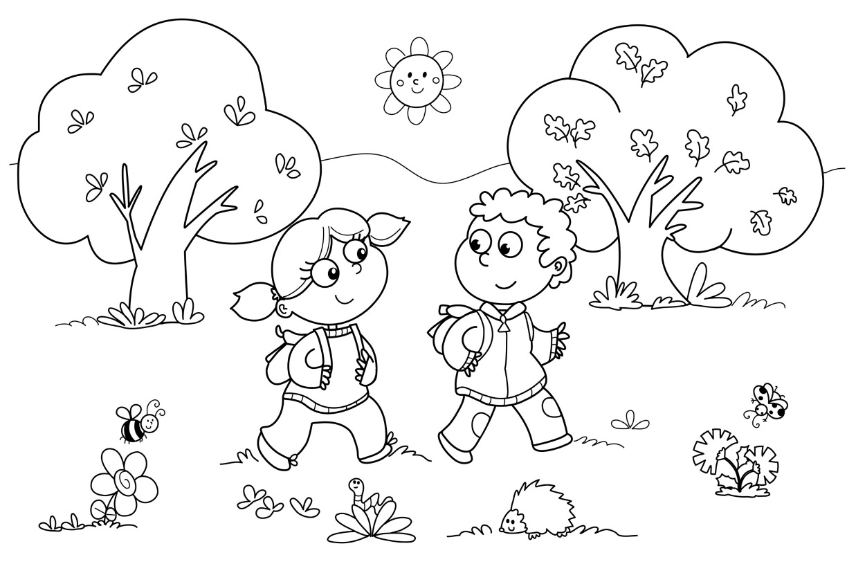 Fun Coloring Pages For Kindergarten Coloring Pages For