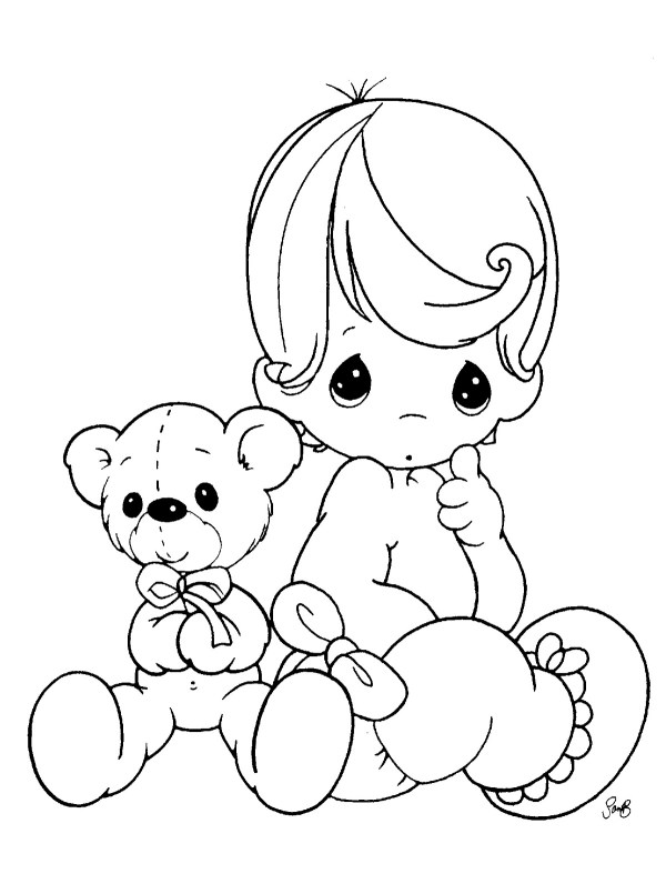 coloring pages of babies # 2