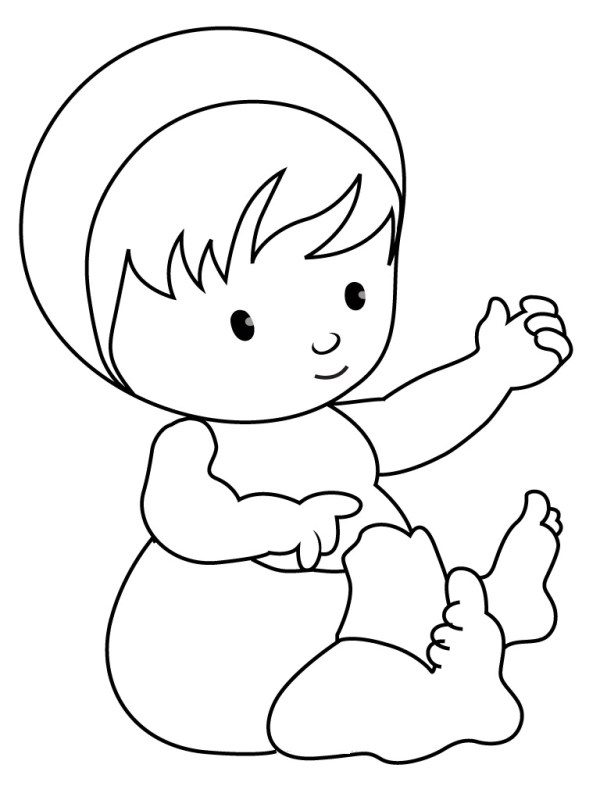 coloring pages of babies # 12