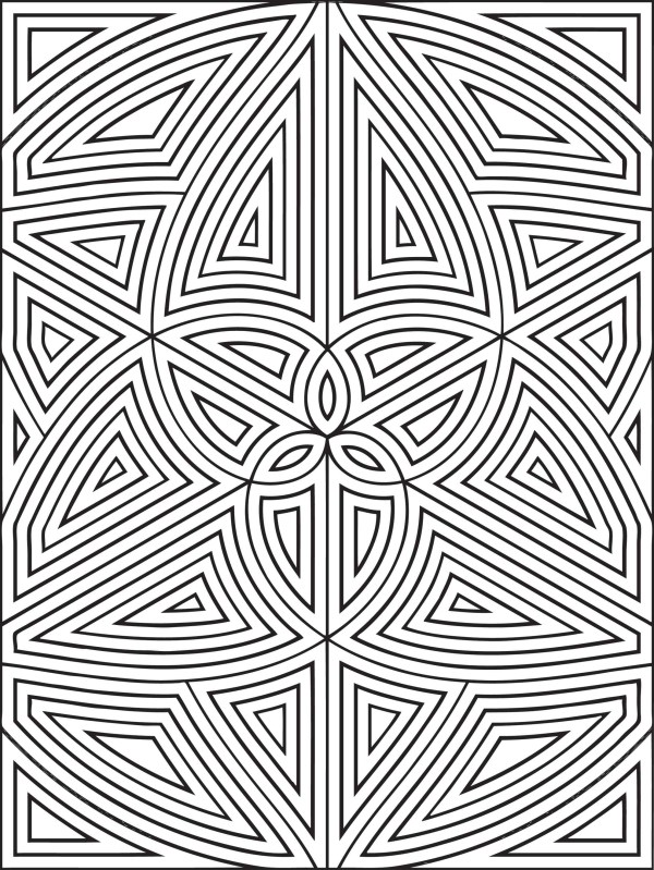 geometric coloring page # 4