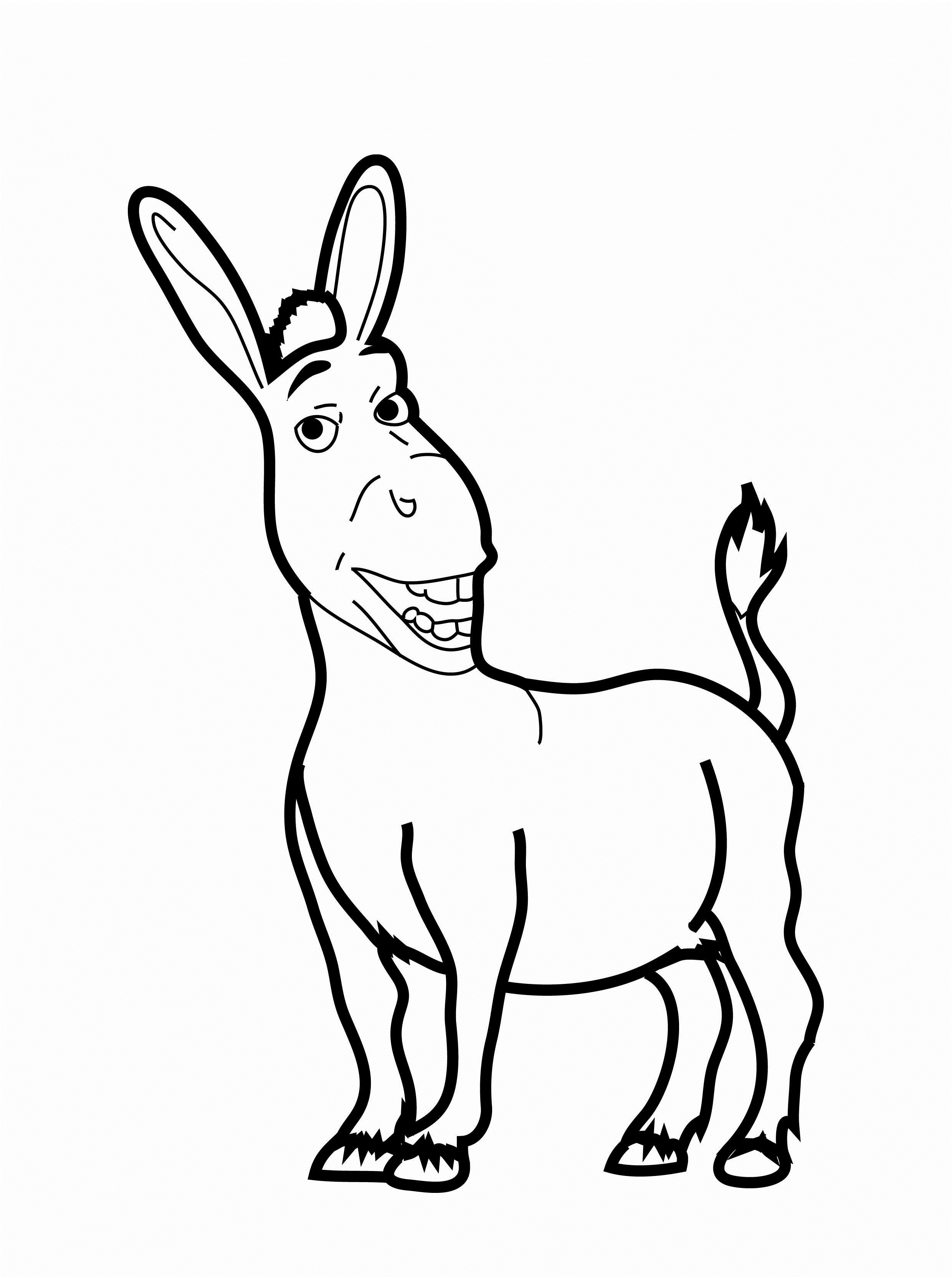 Christmas Donkey Coloring Page