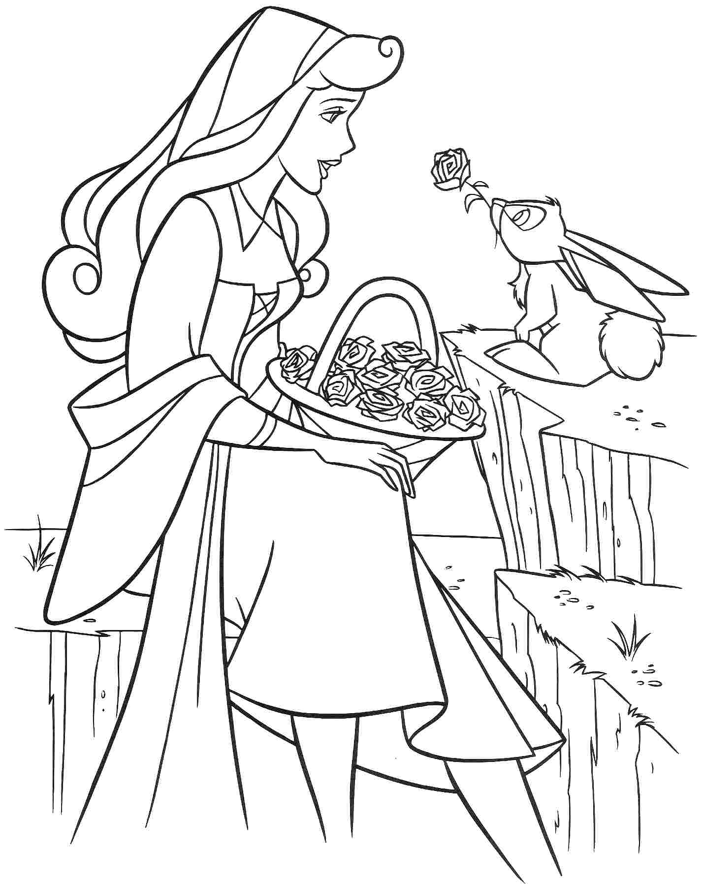 Disney Sleeping Beauty Coloring Pages Free Coloring Page