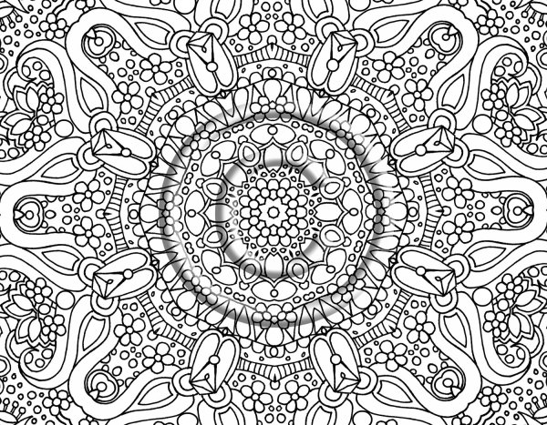 abstract coloring page # 6