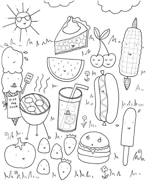 food coloring page # 15
