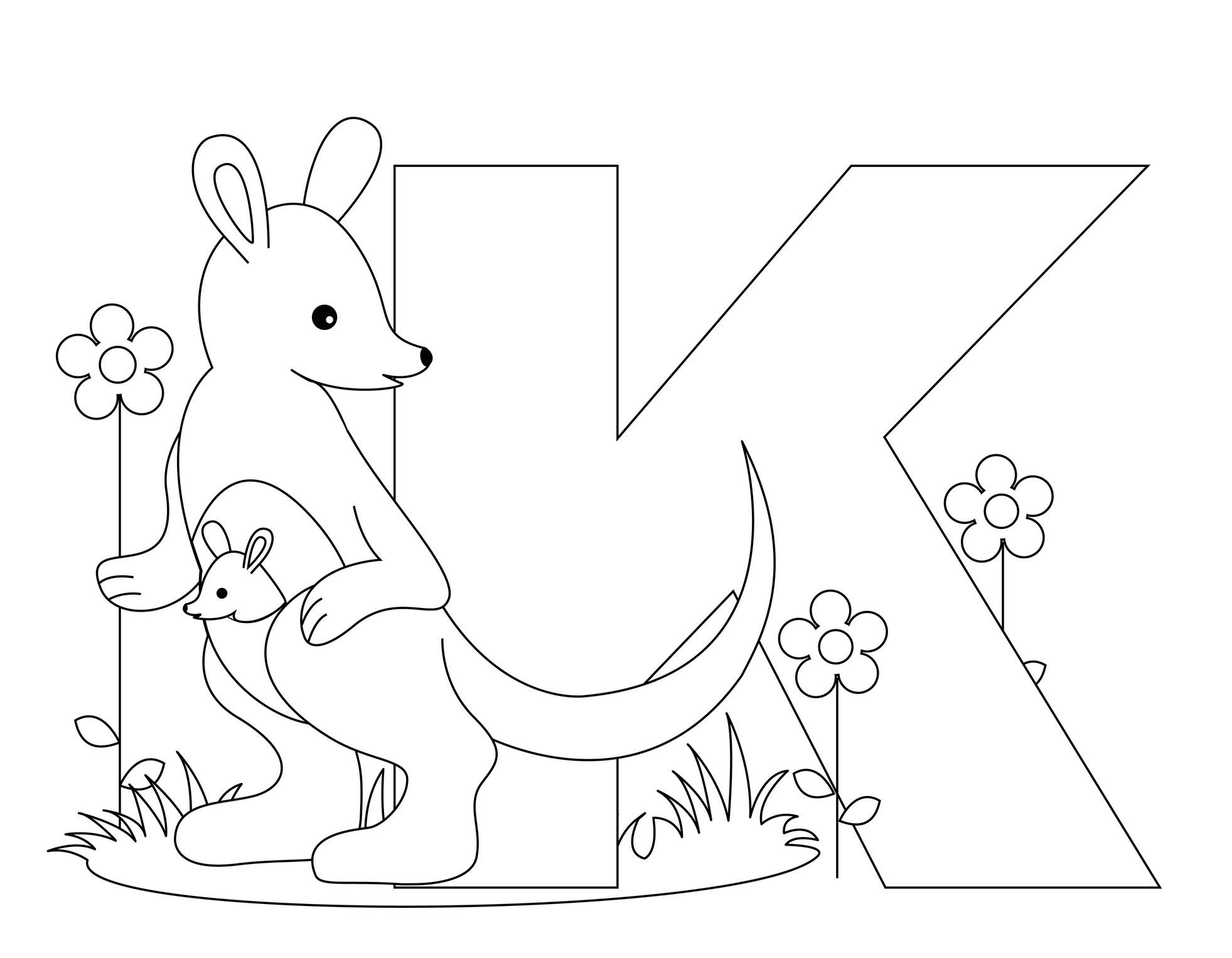 Pre K Coloring Pages Alphabet Coloring Page