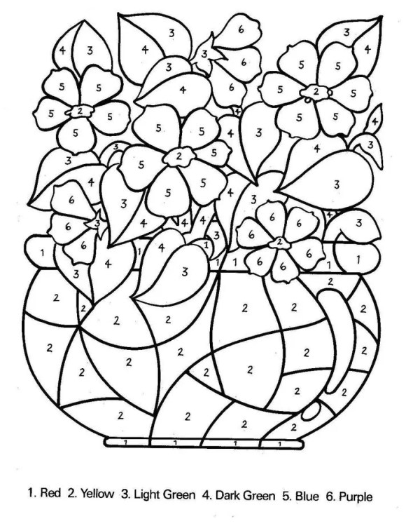 coloring pages by number # 15