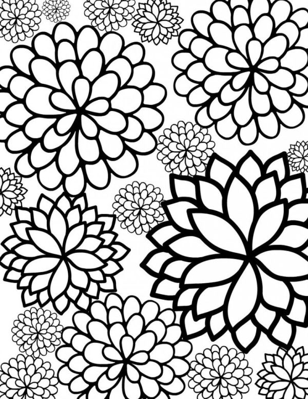free coloring pages flowers # 8