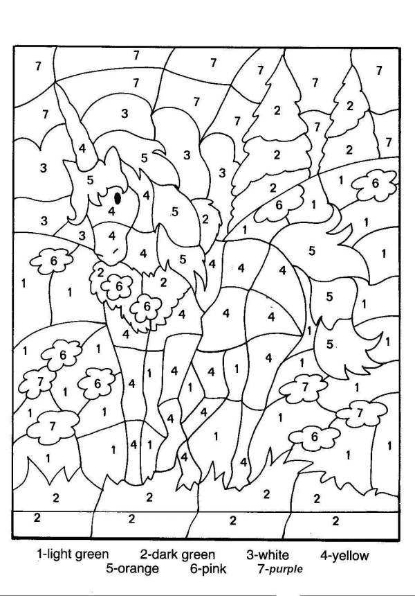 coloring pages color by number # 4