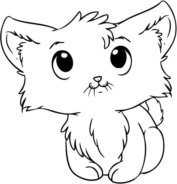 cute kitten coloring pages # 5