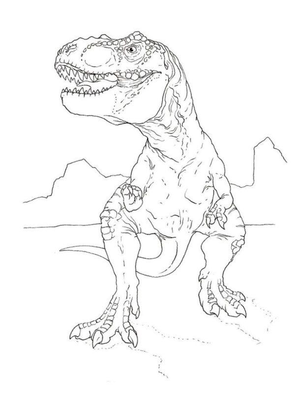 tyrannosaurus rex coloring page # 6