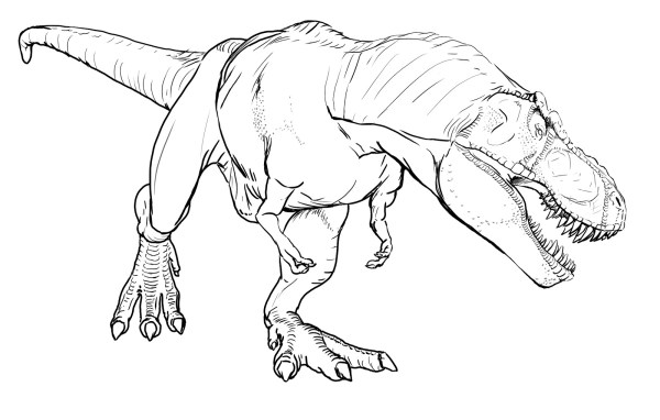 trex coloring page # 2