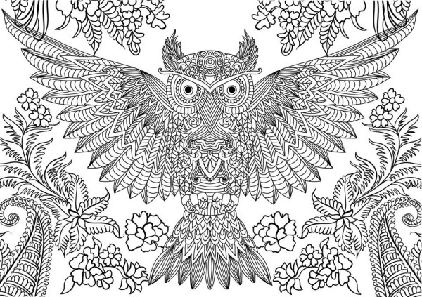 hard coloring pages for adults # 20