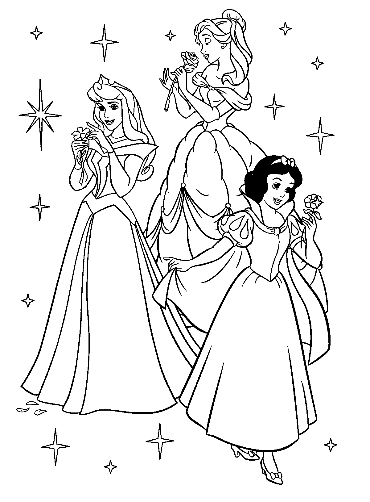Princess coloring pages best coloring pages kids, disney princess coloring pages