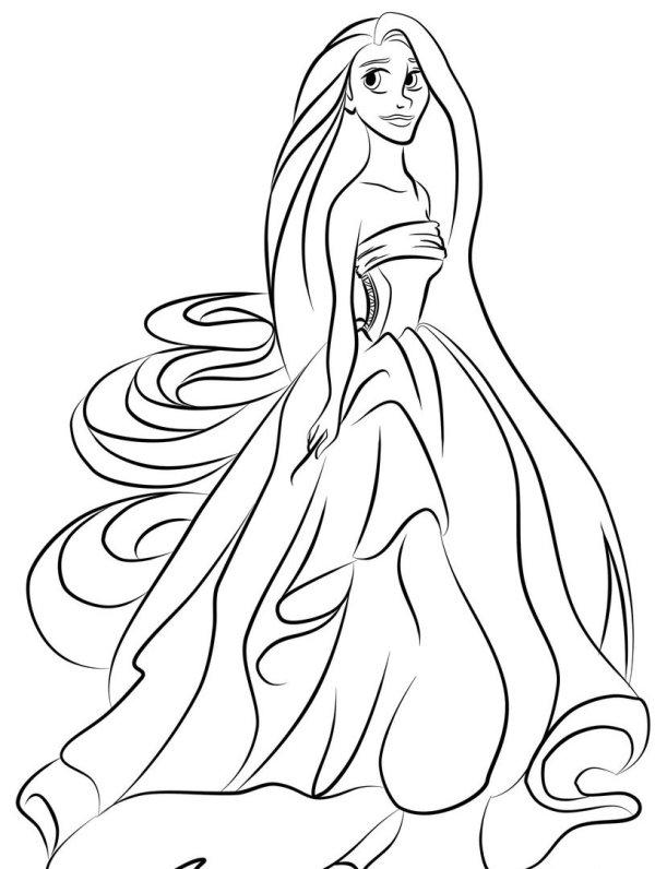 princess color page # 8