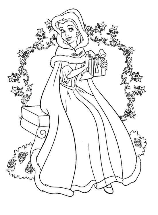 Pages Christmas Print Cinderella Coloring