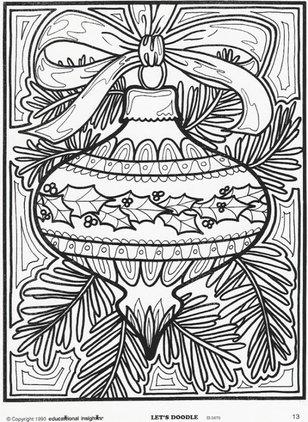 christmas ornament coloring page # 12