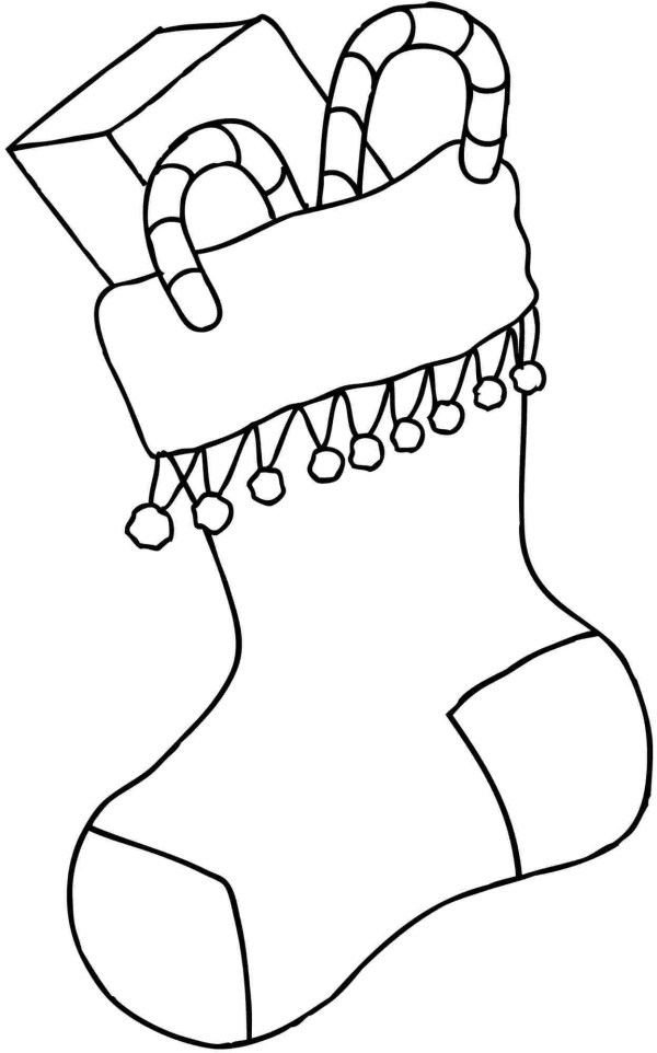 stocking coloring pages # 4