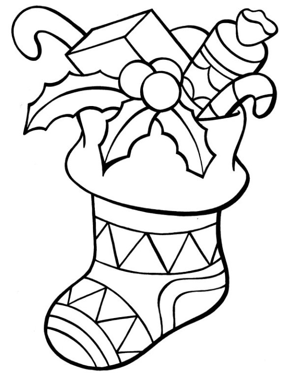 christmas stockings coloring pages # 6
