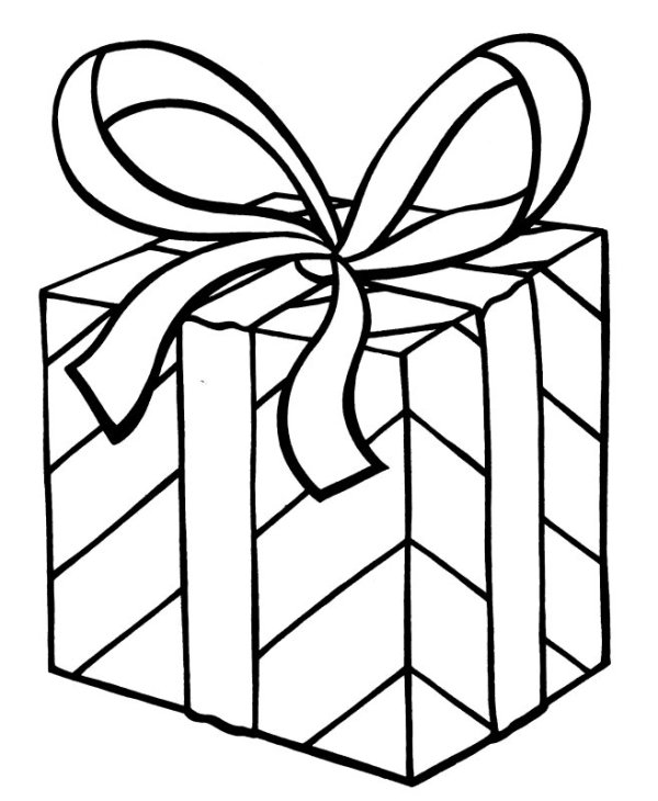 christmas present coloring pages # 1