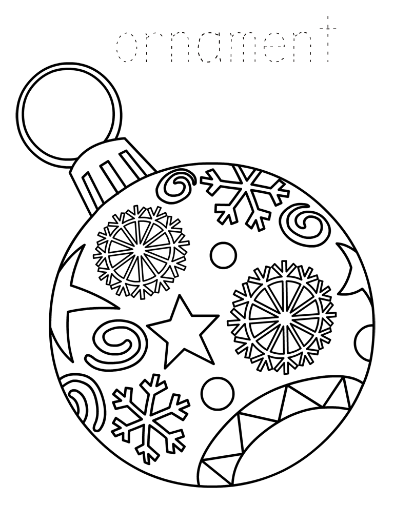 Christmas Ornament Coloring Pages Best Coloring Pages For Kids