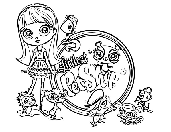 little pet shop coloring pages # 10