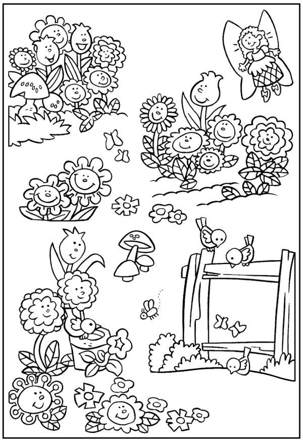 garden coloring page # 8